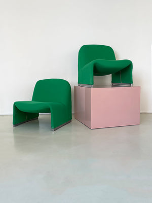 1970s Kelly Green Alky Chair by Giancarlo Piretti for Castelli
