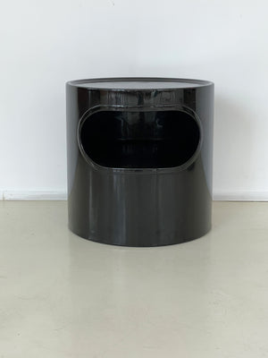 Giano-Giano-Vano Black Fiberglass Table by Emma Gismondi Schweinberger for Artemide