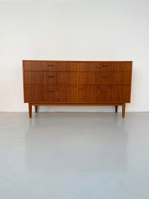 1960s Teak 6-Drawer Credenza by Arne Vodder for Falster, Denmark