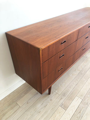 Rare 1960s Arne Vodder for Falser teak 9-Drawer Credenza from Denmark
