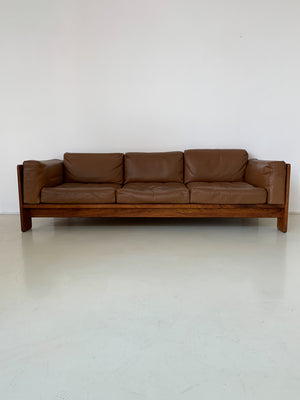 1960s Caramel Leather Tobia Scarpa for Gavina Bastiano Sofa
