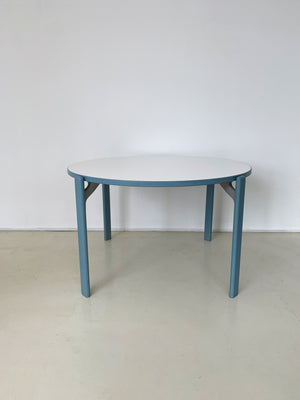 1970s Baby Blue Bruno Rey Table and Dining Chair Set