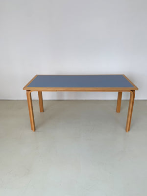 1980s Bent Beechwood Magnus Olesen Rectangle Table