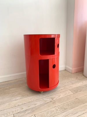 Tall 1970s Plastic Componibili Unit on Caster Wheel by Anna Castelli for Kartell - Single