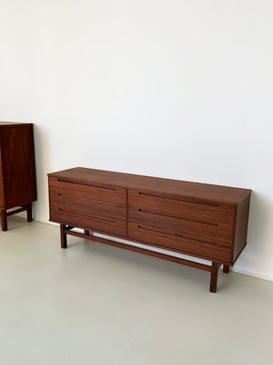 1960s Walnut Six-Drawer Credenza by Nils Jonsson