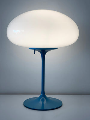 1960s Blue Bill Curry for DesignLine Stemlite Table Lamp