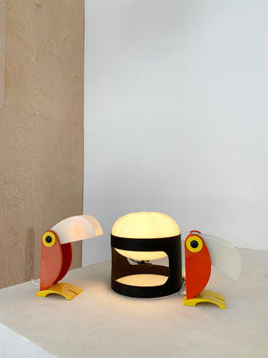 1968 Pale Orange Toucan Table Lamp by Old Timer Ferrari, Italy