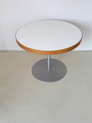 1980s Danish Beechwood and Formica Round Dining Table
