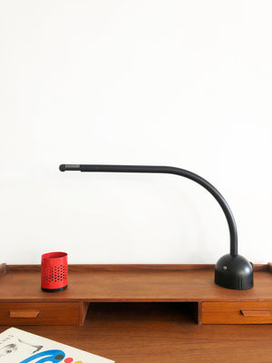 Post Modern Black Curve Lamp by Mario Arnaboldi for Programmaluce Milano