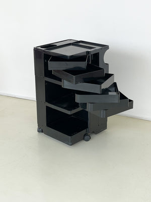 1970s Black Boby Trolley by Joe Colombo for Bieffeplast