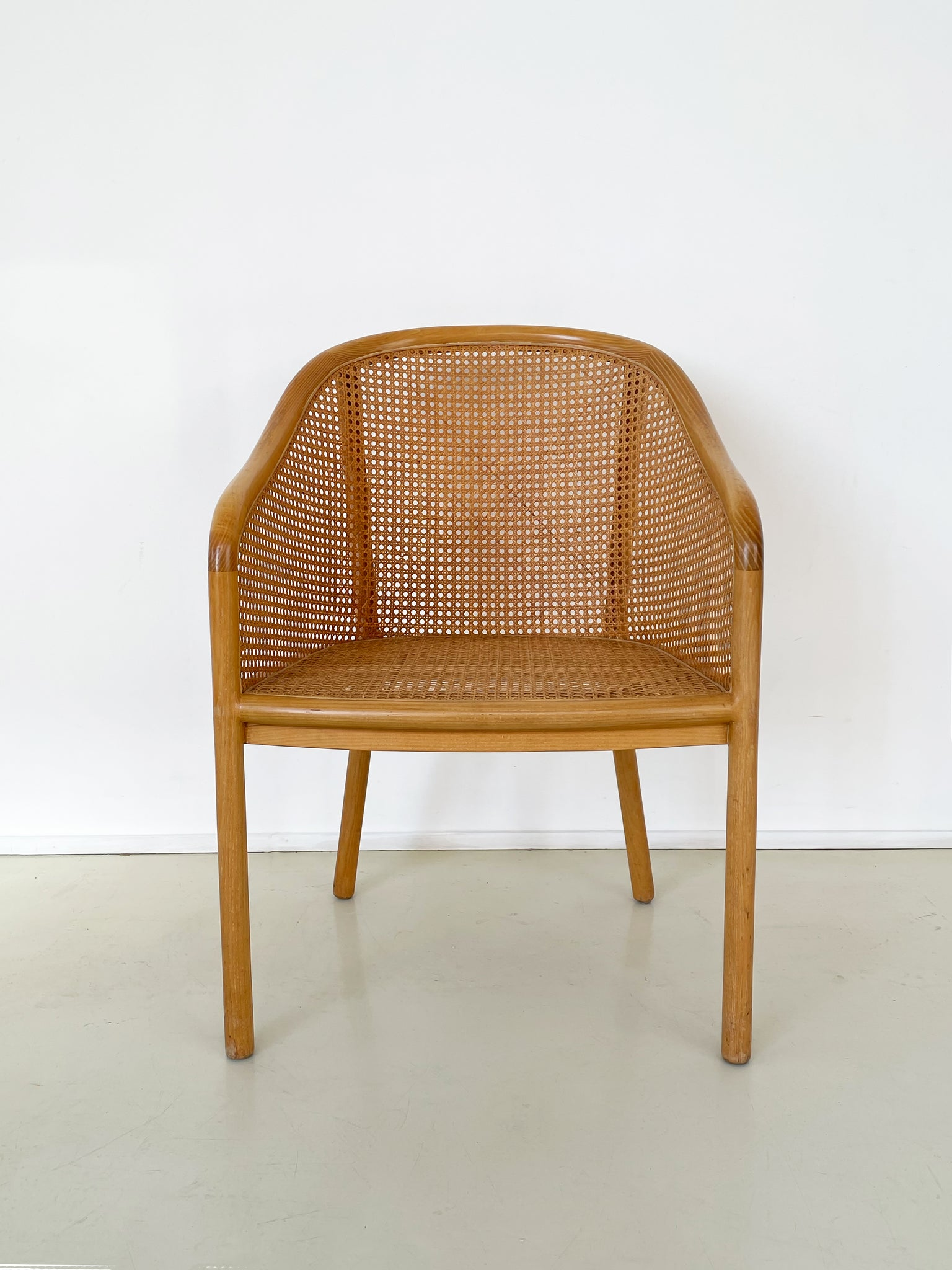 1970s Cane and Ash Wood Chairs by Ward Bennett for Brickel Associates - Per