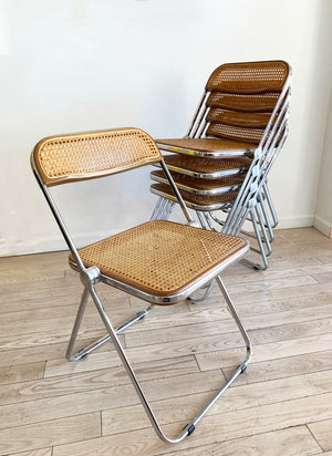 1960s Italian Giancarlo Piretti for Castelli Cane Plia Folding Chairs - Single