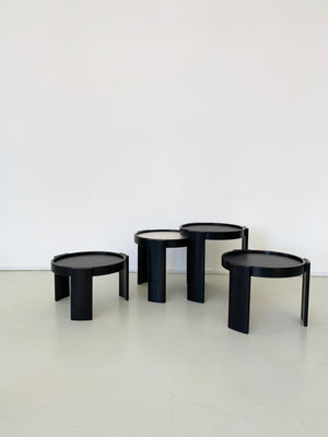 1960s Italian Cassina 780 Nesting Tables By Gianfranco Frattini