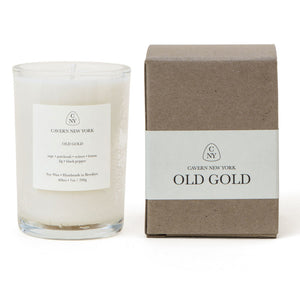 Old Gold Soy Wax Candle by Cavern NY