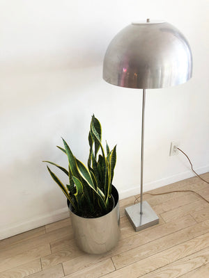 Mid Century Chrome Mushroom Floor Lamp by Paul Mayen for Habitat