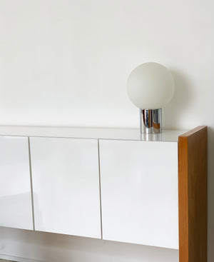 Chrome Kovacs Frosted Glass Orb Table Lamp