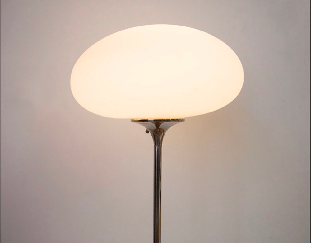 Mid Century Laurel Lamp Co. Chrome Mushroom Floor Lamp