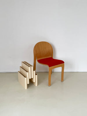 Post Modern Bent Wood Bodyform Chair by Peter Danko