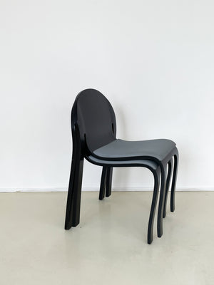 "Peter Danko Bentwood ""Body Form"" Dining Chair"