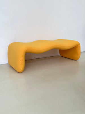 1965 Yellow Djinn Bench by Olivier Mourgue for Airborne