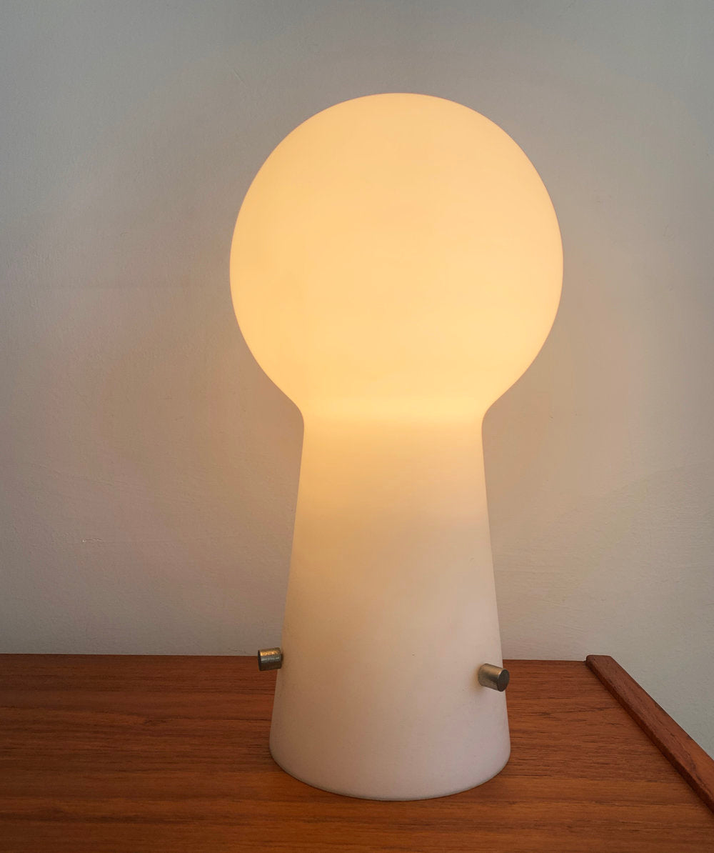 Mid Century Frosted Glass Dome Laurel Lamp, Made in Sweden