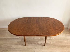1962 Walnut Dux Dining Table w/ Two Leaves, Sweden
