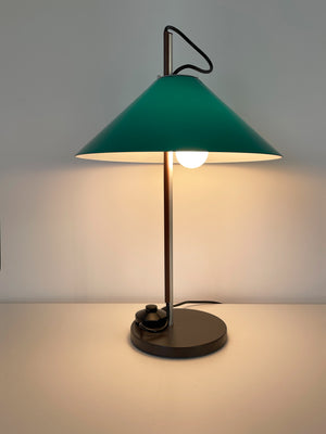 1970s Enzo Mari Aggregato Tavolo Stelo Green Table lamp by Artemide