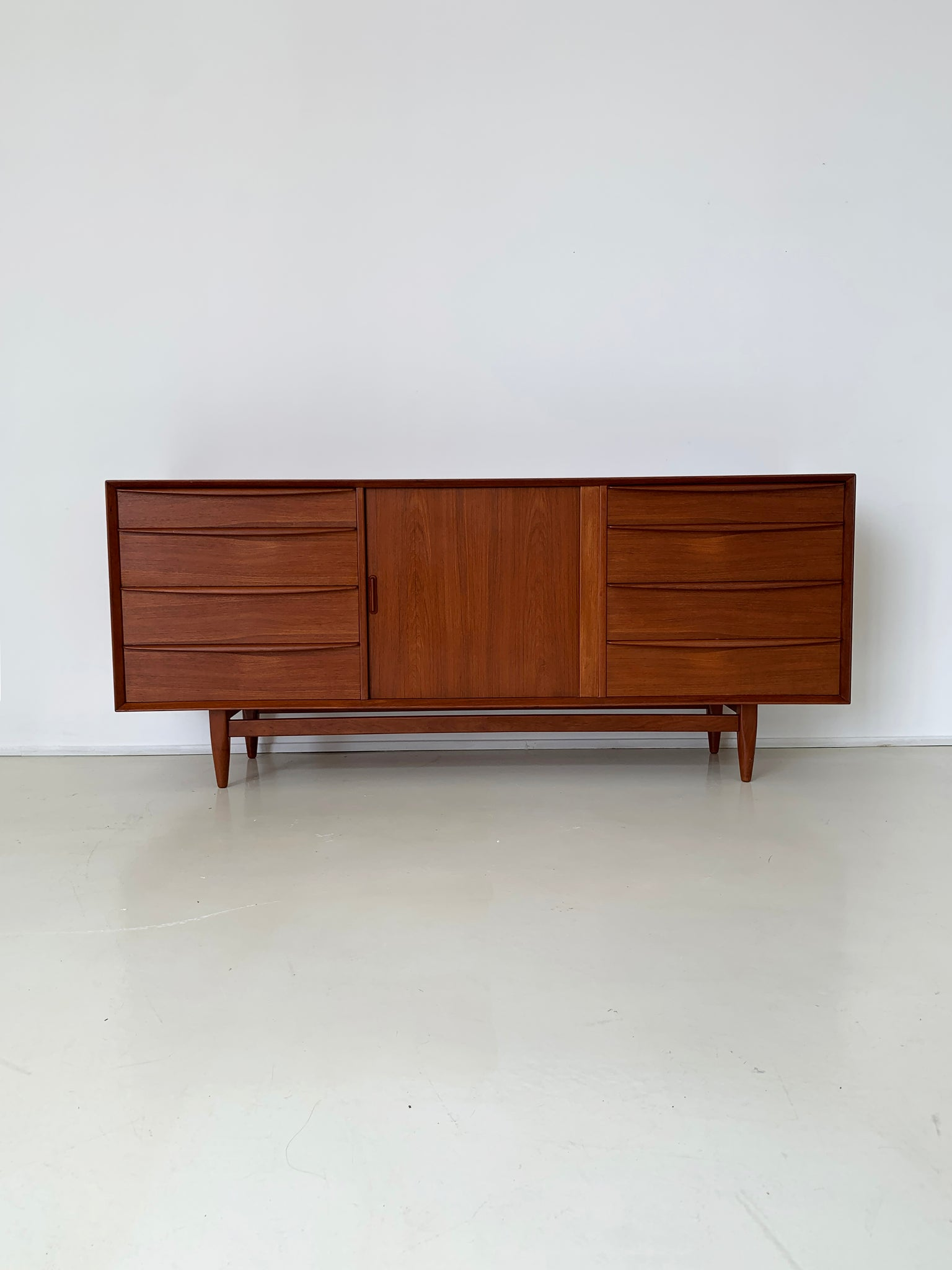Danish Teak Mid Century Credenza by Svend Aage Madsen for Falster