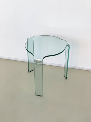 "Fiam Bent Glass ""Aalto"" Side Table"