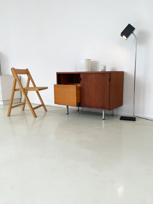 Florence Knoll Walnut Record Cabinet