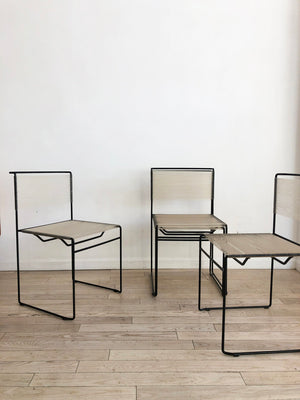 Set of 4 1970s Italian Spaghetti Chairs by Giandomenico Belotti for FlyLine