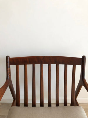 1950s Solid Walnut USA-75 Easy Chair by Folke Ohlsson for Dux Made in Sweden