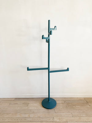 1970s Rare Blue Makio Hasuike for Gedy Coat Rack