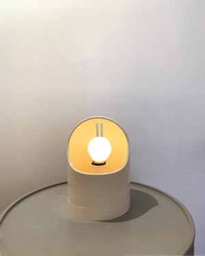 1970s White Makio Hasuike for Gedy Table Lamp