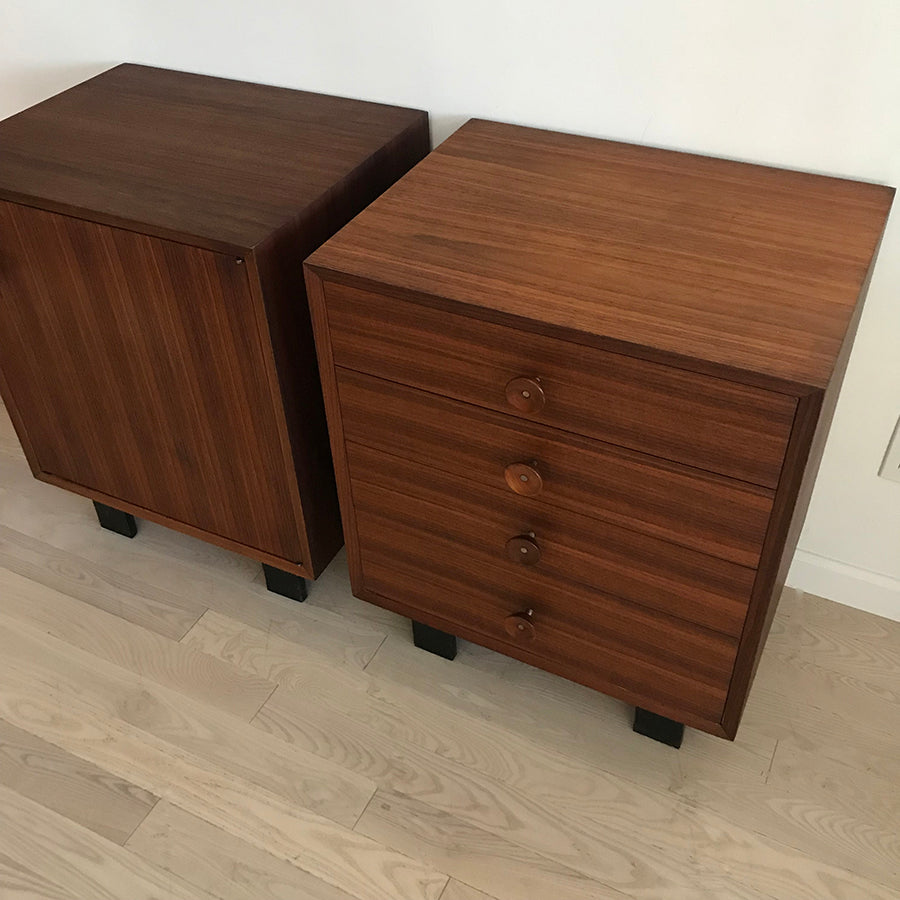 1950s George Nelson for Herman Miller Walnut Chests