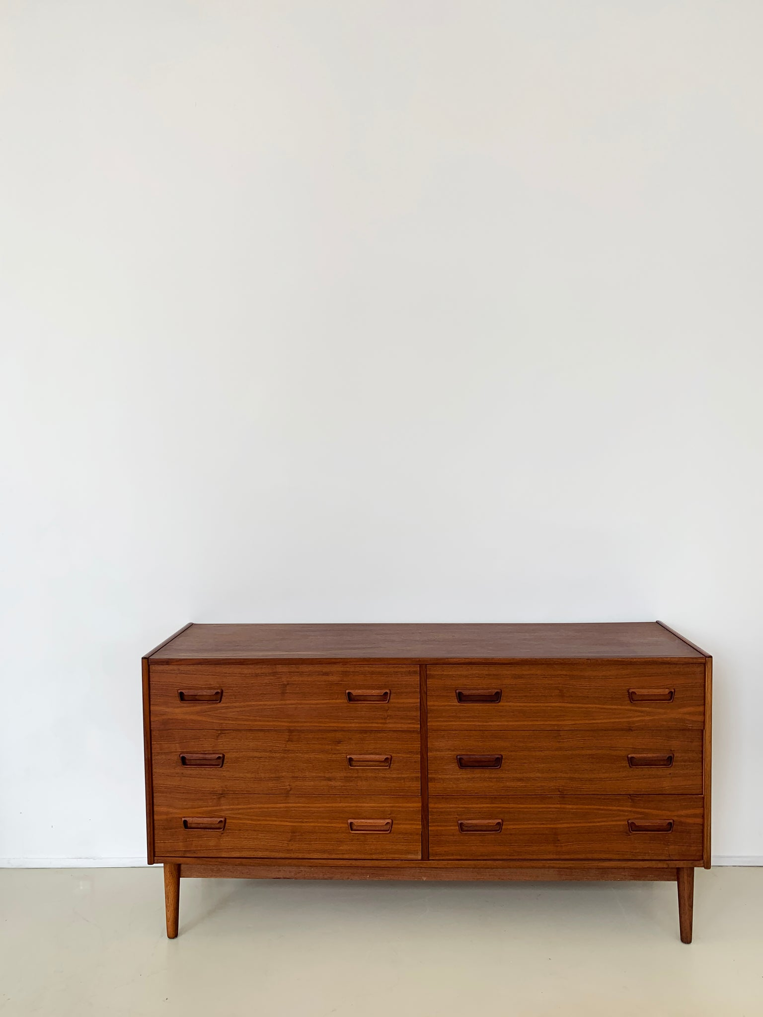 1970s Walnut 6-Drawer Credenza by Gunner Nielsen Tibergarrd