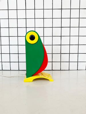 1968 Green Toucan Table Lamp by Old Timer Ferrari, Italy