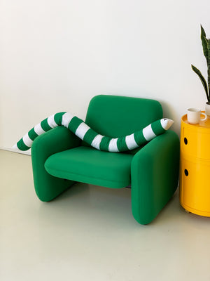 1970s Ray Wilkes Green Chicklet Club Chair for Herman Miller