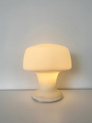 1960s Frosted Handblown Glass Laurel Lamp Co Mushroom Lamp