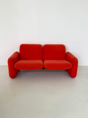 1970s Ray Wilkes Chiclet 2-Seater for Herman Miller