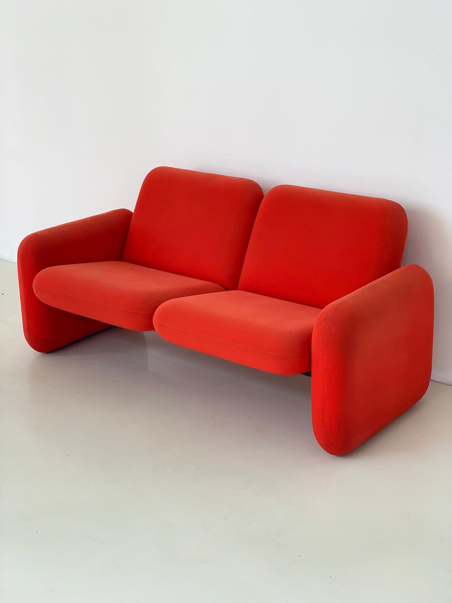 1970s Ray Wilkes Chicklet 2-Seater for Herman Miller
