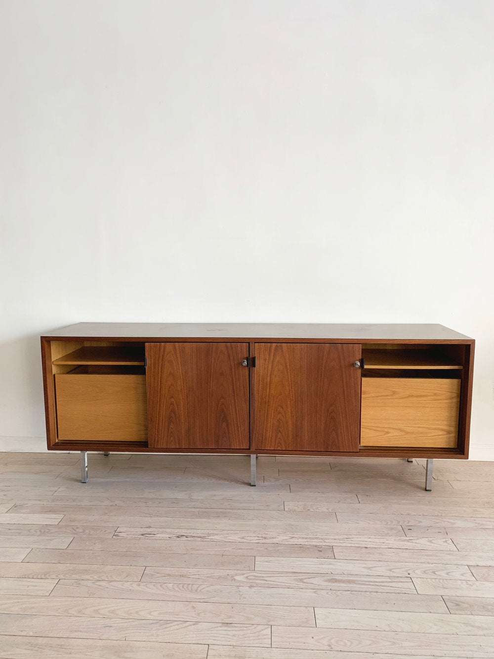 1980s Florence Knoll Walnut Credenza for IBM