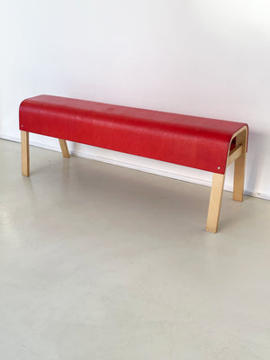 Vintage IKEA Bentwood Red Top Bench