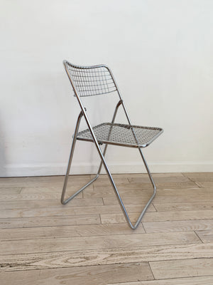 Chrome Grid Folding Chair by Niels Gammelgaard for IKEA, 1979