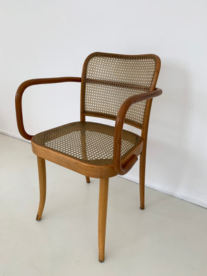 1960s Josef Hoffmann Bentwood 811 Prague Arm Chairs for Stendig
