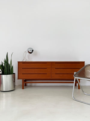 1960s Teak Nils Johnson for HJN Mobler 6-Drawer Credenza