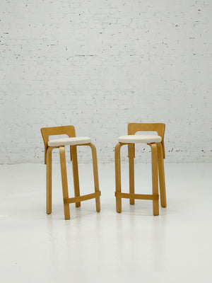 Vintage ICF K65 Stool by Alvar Aalto - Single