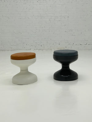 1960s Rocchetto Stool W/ Leather Cushion By Kartell - Single