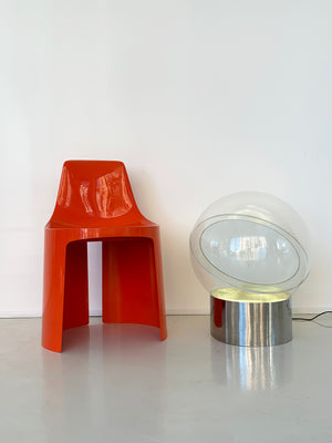 1968 Kartell Floor Lamp / Mirror by Filippo Panseca Model 4043, Italy
