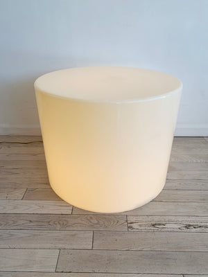 Mid Century Acylic Drum Illuminating Table
